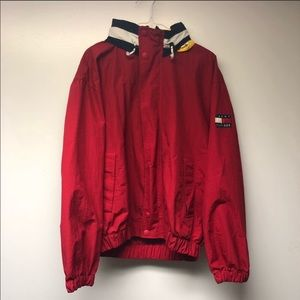 Vintage Tommy Hilfiger Windbreaker Rare Spell out